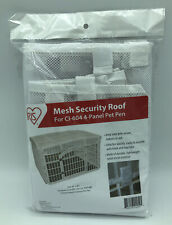 New listing Iris 24'' White Mesh Security Roof For Cl-604 4-panel Pet Pen Size 46x46 301479
