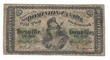 Canada 1870 Dominion of Canada 25 Cent Shinplaster Banknote