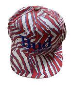 Vintage Bud King Of Beers Red Striped Snapback USA Hat