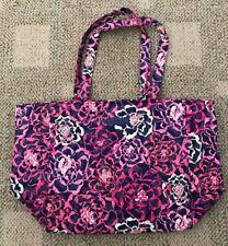 Vera Bradley Grand Tote 2.0 Katalina Pink Large Purse Travel Beach Bag Cotton