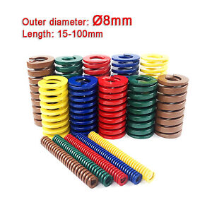 OD= Ø8mm Heavy Load Duty Compression Die Spring Color - Various Length And Load