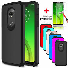 For Motorola Moto G7 Power / Supra Shockproof Case Cover /Glass Screen Protector