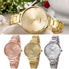 Geneva Fashion Women Crystal Stainless Steel Analog Quartz Bracelet Wrist Watch