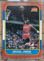 1986 Fleer Michael Jordan 57 and 1986 Sticker PSA 7 with Complete Sticker Set!