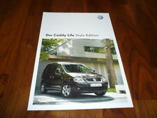 VW Caddy Life STYLE EDITION Prospekt 09/2008