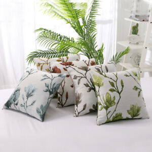 """17"""" x 17"""" Classical Floral Plant Cushion Covers Scatter Pillow Cases Home Sofa"""