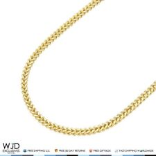 """14K Real Yellow Gold 1.8mm Franco Chain Lobster Clasp 24"""""""