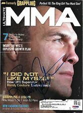 Randy Couture Signed April 2009 Ultimate MMA Magazine PSA/DNA COA UFC Autograph