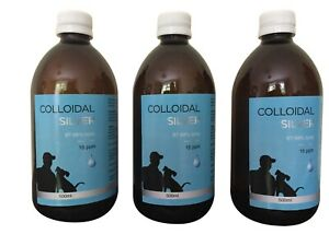 Colloidal Silver 15ppm Premium Quality 500ml in Amber Glass Bottle Made in UK