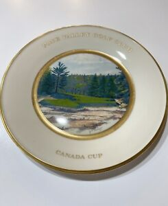 LARGE LENOX CERAMIC PLATE-PINE VALLEY GOLF CLUB CANADA CUP 1981