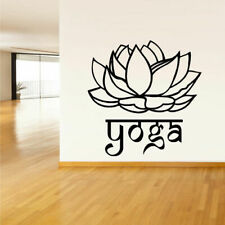 Wall Decal Vinyl Sticker Decals Yoga Flower Lotos Lettering Quote Sign Z1450