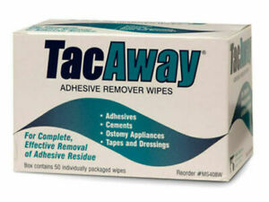 TacAway - Adhesive Remover Wipes [Home Cleaning Residue Removal 50 Pack] NEW