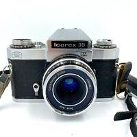 Zeiss Ikon Icarex 35 BM w/ Color Pantar 2.8/50 Lens & Strap Vintage 35mm Camera