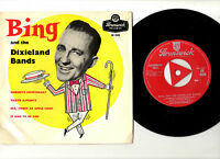 """BING CROSBY AND THE DIXIELAND BANDS.UK ORIG 7"""" EP & PIC/SL.VG+/EX"""