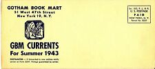 Gotham Book Mart Nyc Gbm Currents for Summer 1943 Vintage Brochure