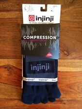 NEW Injinji Excelerator Compression 2.0 Athletic Performance Toe Socks LARGE