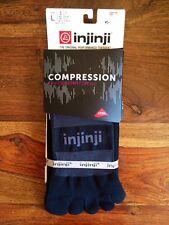 NEW Injinji Excelerator Compression 2.0 Athletic Performance Toe Socks LARGE