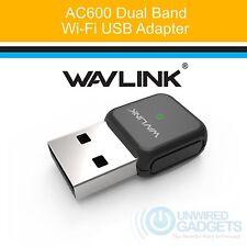 Wavlink AC600 Dual Band USB Wireless Network Adapter for PC Windows WiFi NEW
