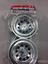 Tamiya RC Model CR-01 Metal Plated Standard Wheels (Offset 0) (2pcs) 54101