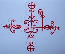 Papa Legba  Voodoo Sticker/ Decal Veve New Orleans Voodoo CrossRoads Guardian