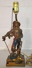 Antique Swashbuckler Figural Lamp Armor Bronze Bookend Doorstop Decorative Art