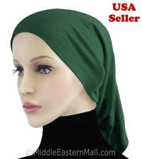 Muslim Islam Best quality Tube cap #12 Green Inner Hijab Underscarf Hijab Hat