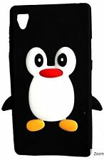 Black Silicone Penguin Phone Case / Cover for Sony Xperia Z