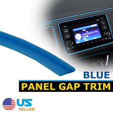 10Feet Car SUV Door Panel Gap Trim Blue Molding Moulding Strip Decorate Flexible