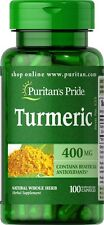 Turmeric 400 mg - 100 Capsules / Antioxidant Anti-Inflammatory - FREE SHIPPING!