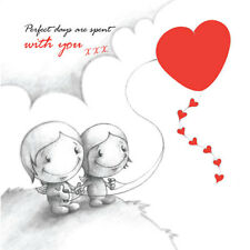 'Perfect Days Are Spent With You' Cupids Birthday/Annivers Card for him/her kite