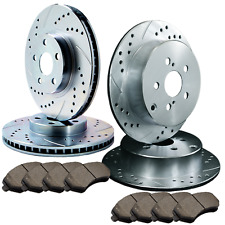 F+R Double Drilled Slotted Zinc Coated Premium Rotors w//Ceramic Pads  ATL025821