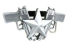 Guns & Star Lighter Holder Belt Buckle