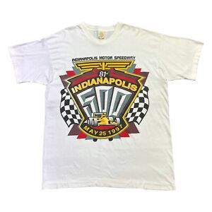 81st Indianapolis 500 Tshirt   Vintage 90s Motorsports Race Indy Motor Speedway