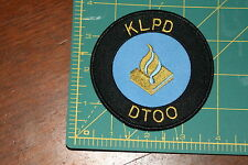 Dutch National Police KLPD DTOO Shoulder Patch