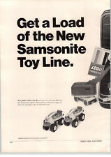 1969 PAPER AD 2 PG Lego Samsonite Building Block System Toy Toys