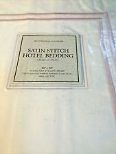 Restoration Hardware Italian Satin Stitch Standard Pillow Sham White Pink NWT