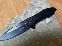 Kershaw Assisted Opening Folding Knife Pocket EDC Black Ext Tang Outdoor 1317