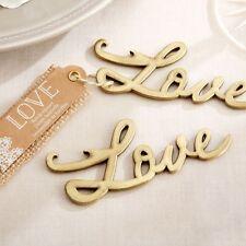 20x Love Bottle Opener Gold Wedding Favour Bridal Shower Party Gift Bomboniere