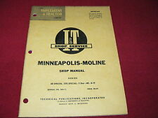 Minneapolis Moline UB Special, UTS Special, 5 Star, M5, Tractors I&T Shop Manual