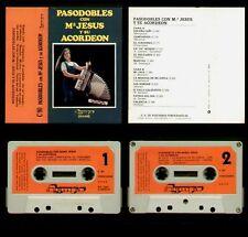 MARIA JESUS Y SU ACORDEON - SPAIN CASSETTE OLYMPO 1972 - PASODOBLES - Mª JESUS