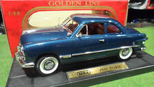 FORD  Coupé bleu metal 1949 au 1/18 de MIRA 6250 voiture miniature de collection