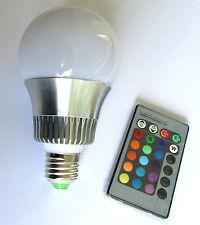10W Lampada LED E27 multicolore RGB slim faretto striscia G4 bulbo cromoterapia