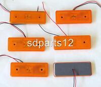6 x ORANGE LED FEUX DE GABARIT A 24V CAMIONS BUS CHASSIS MAN DAF