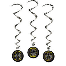 Hanging Decoration Whirls Race Car X3 BE57554  Racing Boys Birthday Party