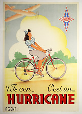 Hurricane - Original Vintage Bicycle Poster - Cycling