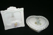 Precious Moments Porcelain Heart November Box & Place in my heart Picture Frame