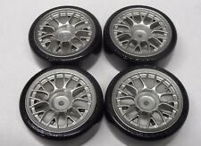 New GENUINE TAMIYA Drift Pre-Glued Wheels & Super Driftech Tyres 24mm (Set Of 4)
