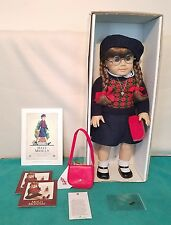 American Girl Pleasant Company Molly Doll Glasses Germany Clothes Box Retired