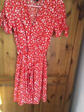 New Look Floral Wrap Dress - Size 8