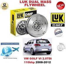 POUR VW GOLF VI 5K1 2.0 TDi 110 BHP 08-12 ORIGINAL LUK DMF VOLANT MOTEUR BIMASSE